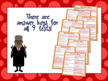 Grade 3 Bundle-9 American Leaders' Assessments and Study Guides