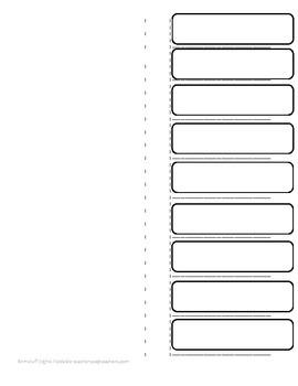 Nine Category Foldable
