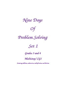 Nine Days of Problem Solving Grades 3 and 4