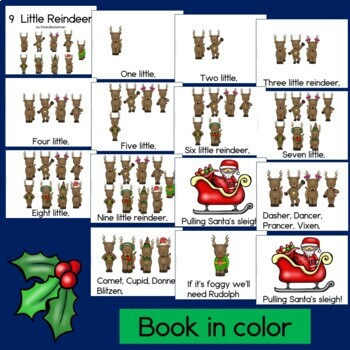 Nine Little Reindeer: a Christmas Counting Book