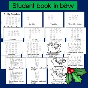 Christmas Counting Book: Nine Little Reindeer