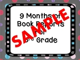 Nine Months of Book Reports for Third Grade