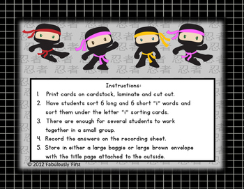 "Nine Ninjas (Long and Short Vowel ""i"" Words)"