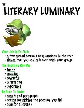 Nine Roles for Literature Circles