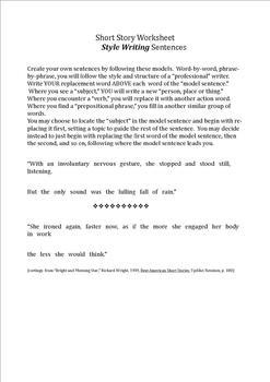 Nine SHORT STORY Templates