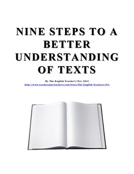 Nine Steps to a Better Understanding of Texts