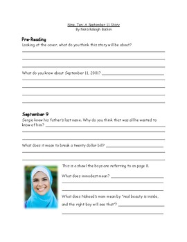 Nine, Ten: A September 11 Story Book Study