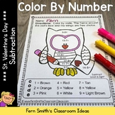 Valentine's Day Color By Number Subtraction