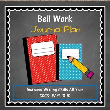 Bell Work Journal Plan {A nine week}