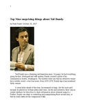 Top nine surprising things about Ted Bundy