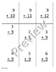 Nines 9s Addition and Subtraction practice/flashcards (editable)