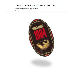 1984 Quotation Test With Key - Short Essay