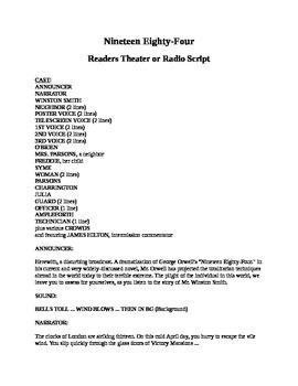 Nineteen Eighty Four - Readers Theater or Radio Script