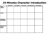 Nineteen Minutes Character Graphic Organizer