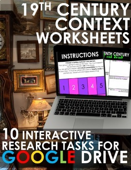 Nineteenth Century Worksheets for GOOGLE DRIVE! Rigorous R