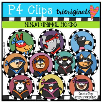 Ninja Animal BUTTON CIRCLES (P4 Clips Trioriginals)