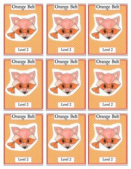 Ninja Animal Incentive Cards