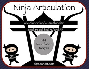 Ninja Articulation: Speech Therapy: S, L, front-back/back-