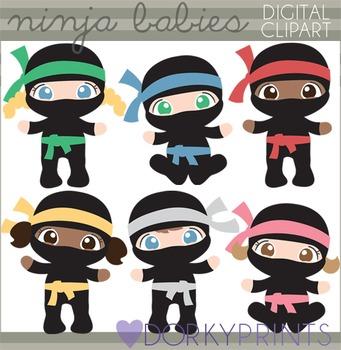 Ninja Babies Clip Art