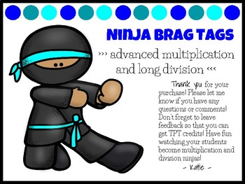 Weekly Differentiated Quizzes (Advanced Multiplication & Long Division)+BragTags