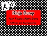 Ninja Bump Addition and Multiplication: Fact Fluency Game