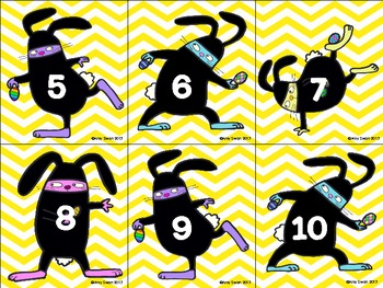 Ninja Bunny Counting On & Back DIFFERENTIATED Numbers 5-20 Math Station