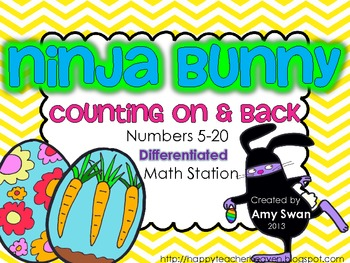 Ninja Bunny Counting On & Back DIFFERENTIATED Numbers 5-20