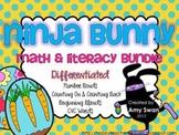 Ninja Bunny DIFFERENTIATED Math & Literacy Stations BUNDLE