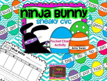 Ninja Bunny DIFFERENTIATED Math & Literacy Stations BUNDLE