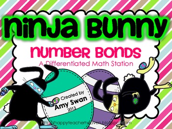 Ninja Bunny Number Bonds - Making 10 & Teens - Differentiated Math Station