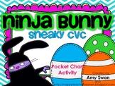Ninja Bunny Sneaky CVC Pocket Chart station/center activity - Spring/Easter