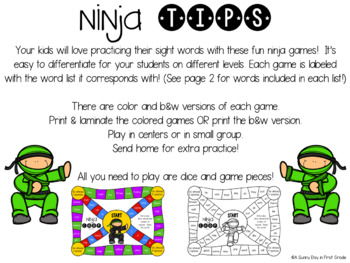 Ninja Chop {Sight Word Games!}