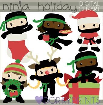 Ninja Christmas Clip Art