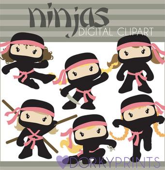 Ninja Clip Art - Girl Ninjas