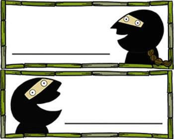 Ninja Clip Art and Name Tags