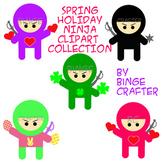 Ninja Clipart- Standard Ninja & Spring Holiday Ninjas