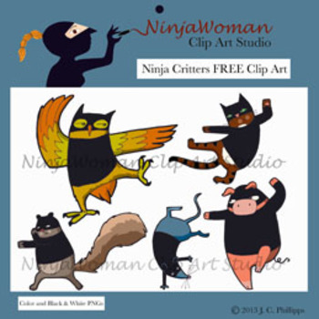 Ninja Critters FREE Clip Art