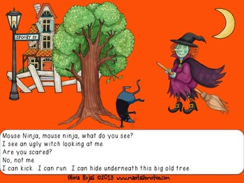Ninja Critters, What Do You See?  Story Sequencing