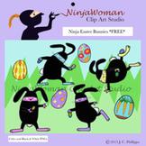 Ninja Easter Bunnies FREE CLIP ART