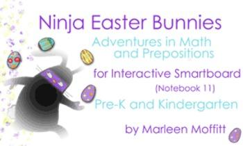 Ninja Easter Bunnies for Interactive SmartBoard (Notebook 11)