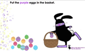 Ninja Easter Bunnies for Interactive SmartBoard (Notebook 11)