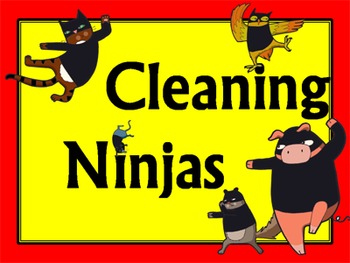 Cleaning Ninjas Job Chart *Editable