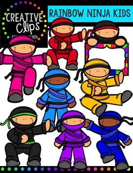 Ninja KIDS {Creative Clips Digital Clipart}