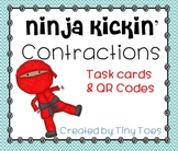 SCOOT Ninja Kickin' Contractions :: Task Cards and QR Codes - meets common core