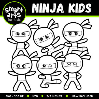 Ninja Kid Clip Art
