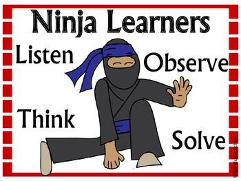 Ninja Learner Behavior Poster