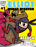 PERSONALIZED Ninja Master Comic Book Cover #1