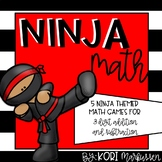 Ninja Math- 3 digit addition and subtraction games