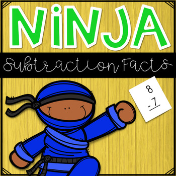 Math Facts Fluency~ Ninja Subtraction Facts