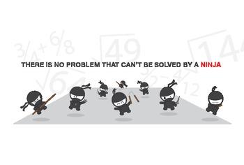 Ninja Math Poster